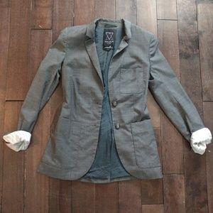 Aritzia Talula Exeter Wool Blend Grey Blazer Sz 00